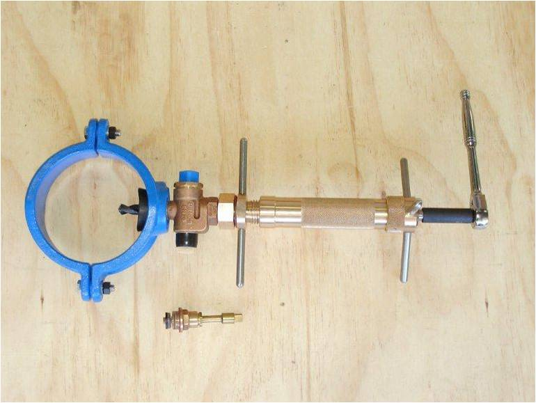 water service tapping machine